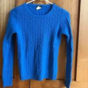 90s STYLE CABLE KNIT WOOL SWEATER